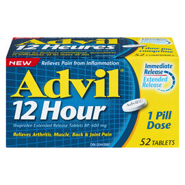 Advil 12 Hour Tablets - 600mg - 52's