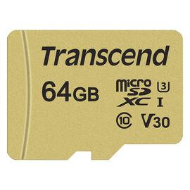 Transcend 500S 64GB microSDXC Memory Card - TS64GUSD500S