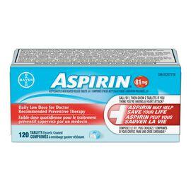 Coated ASPIRIN Daily Low Dose - 81mg - 120's