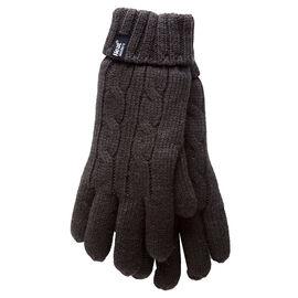 Heat Holders Ladies Knit Gloves - Black - Small