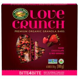 Nature's Path Organic - Love Crunch Premium Organic Granola Bars - Dark Chocolate & Red Berries - 6 Bars x 30g