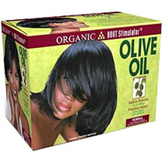 Organic Root Stimulator Olive Oil Built-In Protection No-Lye Relaxer Kit - Regular