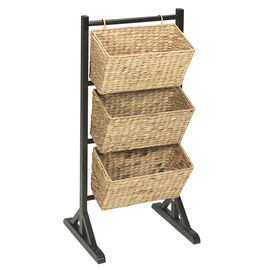London Drugs Water Hyacinth Basket Stand with 3-tiers