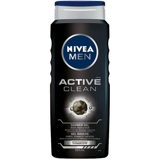 Nivea Men Active Clean Shower Gel - 500ml