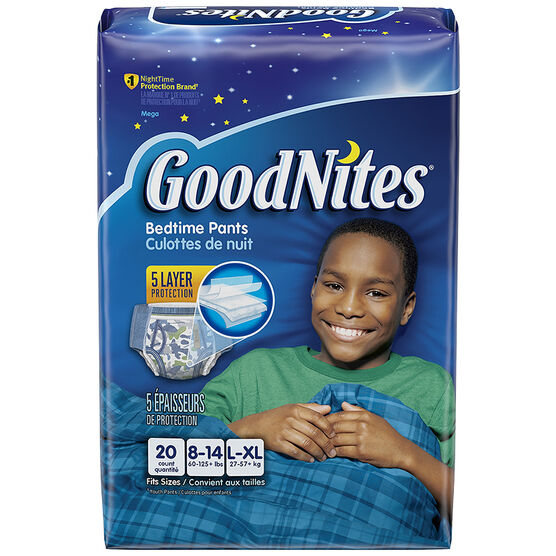 GoodNites Underwear for Boys - Large/Extra Large - 20's