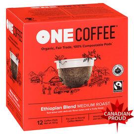One Coffee Organic Single Serve Pods - Medium Roast Ethiopian Blend - 12's