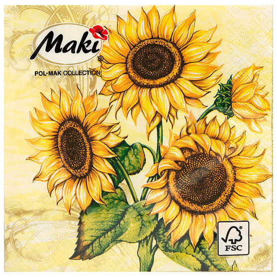Lunch Napkins - 13.2 x 13.2cm - Assorted