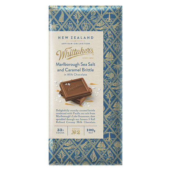 Whittakers Milk Chocolate - Sea Salt and Caramel Brittle - 100g