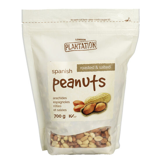 London Plantation Peanuts - Roasted & Salted - 700g