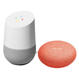 Google Home Voice Activated Speaker Assistant with Google Home Mini - Coral - PKG #19533