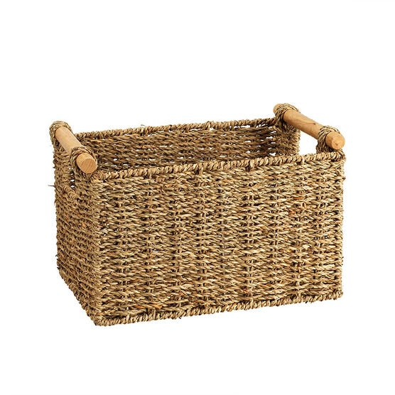 London Drugs Seagrass Basket with Cane Handles- Natural Colour