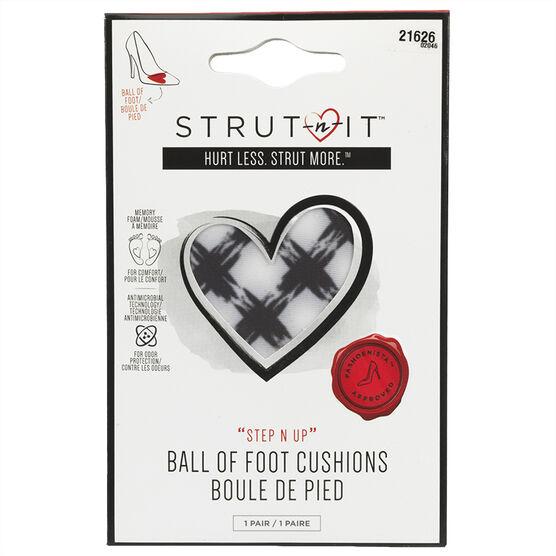 Strut-n-It Ball Of Foot Cushions - Plaid - 1 pair