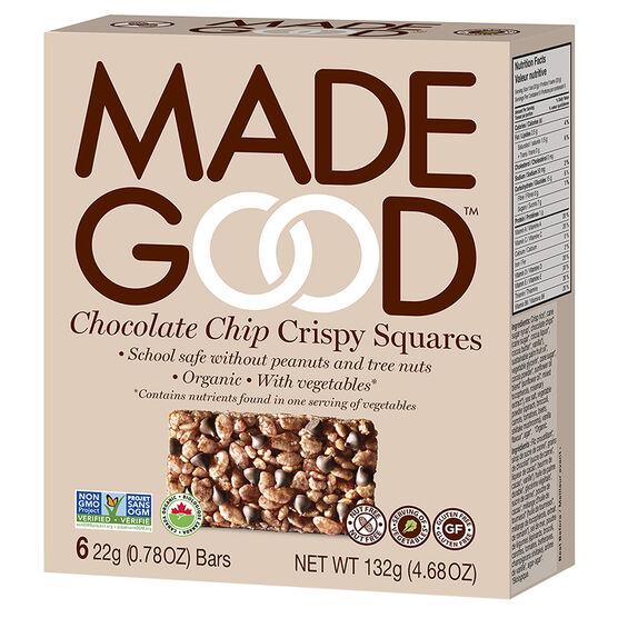 Made Good Crispy Squares - Chocolate Chip - 6 Pack