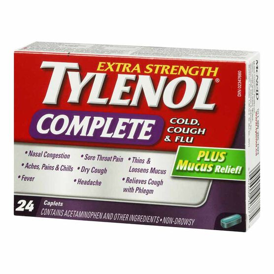 Tylenol* Complete Could, Cough & Flu - Extra Strength - 24's