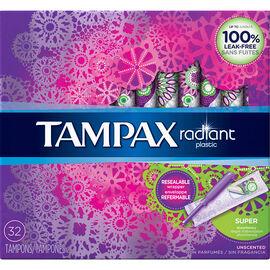 Tampax Radiant Tampons - Super - 32's