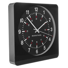 Marathon Large Analog Clock - Black/White - CL030057BK-BK1