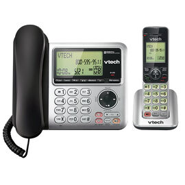 VTech Corded/Cordless Phone - Silver - CS6949