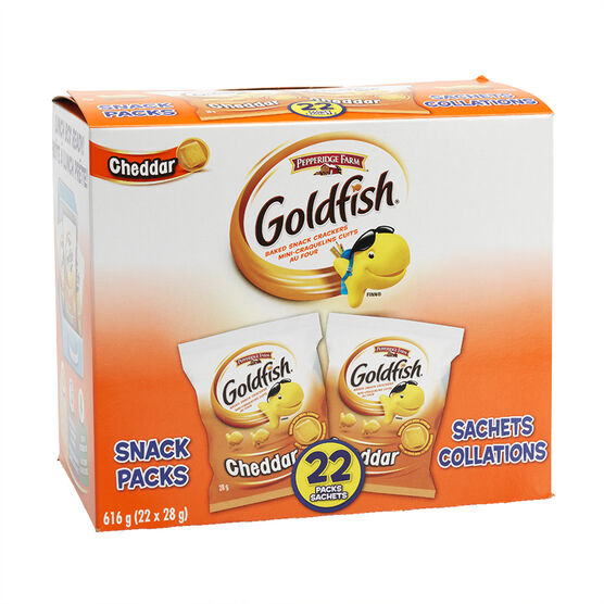 Pepperidge Farms Goldfish Crackers Snack Pack - Cheddar - 22's