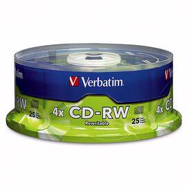 Verbatim 700MB CD-RW 4X Storage Media - 25 pack