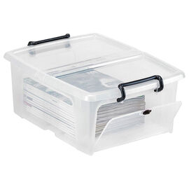 Strata Smart Storemaster Box with Side Opening and Clip Handles - 20L