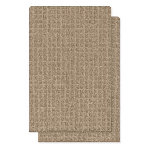 Kitchenworks Waffle Tea Towel - Taupe - 2 pack