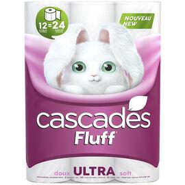 Cascades Fluff Ultra Double Roll Bathroom Tissue - 12's