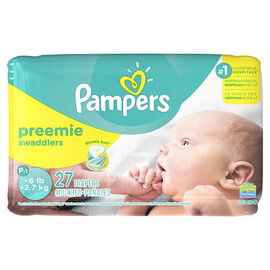 Pampers Swaddlers Diapers - P-1 Preemie Small - 27's