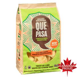Que Pasa Organic Thin & Crispy Tortilla Chips - Twist of Lime - 300g