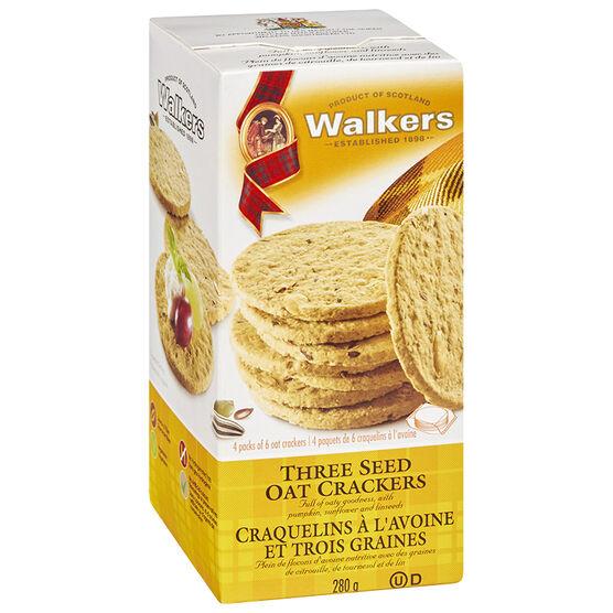 Walkers Fine Oat Crackers - Three Seed - 280g