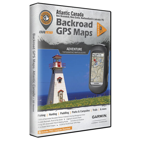 Backroad GPS Maps - Atlantic Canada - 02300
