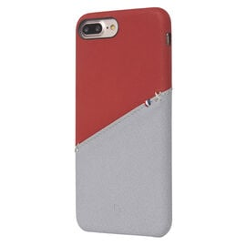 Decoded Leather Snap on Case for iPhone 8/7/6s/6+ - Red/Grey - DCDA6IPO7PLSO1RDGY