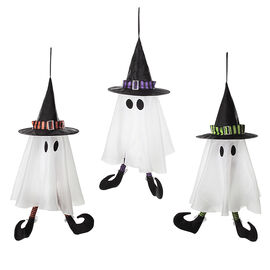 Danson Hanging Animated Ghost Witch - 25.5in - Assorted