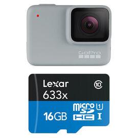 GoPro Hero 7 White with Lexar 16GB MicroSD - PKG #47801