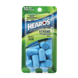 Hearos Extreme Protection Blue Ear Plugs - 10 Pair