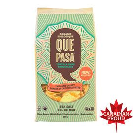 Ques Pasa Organic Tortilla Chips - Thin and Crispy - Sea Salt - 300g