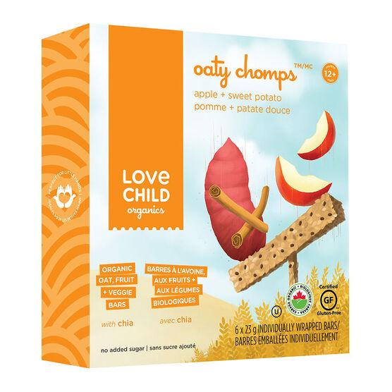 Love Child Oaty Chomps Bars - Apple + Sweet Potato - 6 x 23g