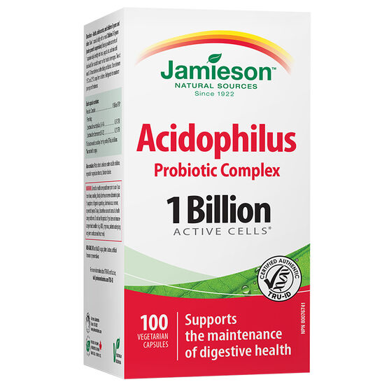 Jamieson Acidophilus Probiotic Complex - 1 Billion Active Cells - 100's