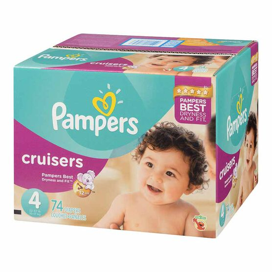 Pampers Cruisers Diapers - Size 4 - 74's