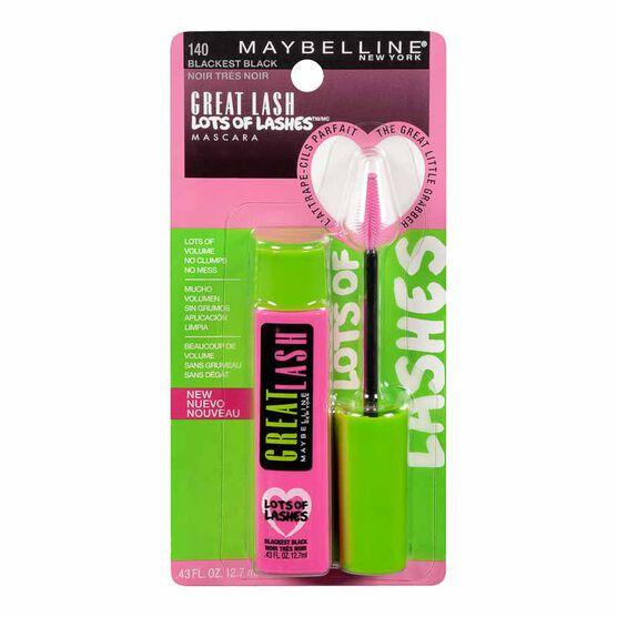 Maybelline Great Lash Lots of Lashes Mascara - Blackest Black