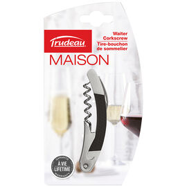 Trudeau Waiter Corkscrew - Black/Grey