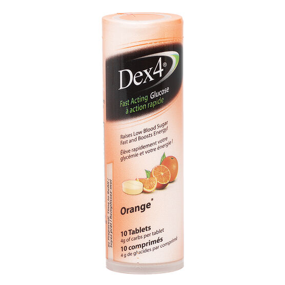 Dex 4 Glucose Tablets - Orange - 10's