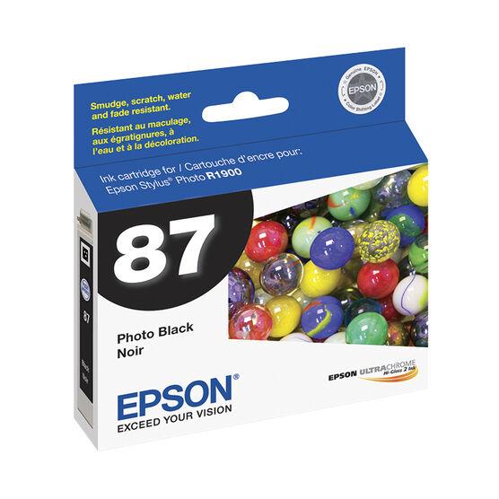 Epson 87 UltraChrome Hi-Gloss 2 Ink Cartridge - Photo Black - T087120
