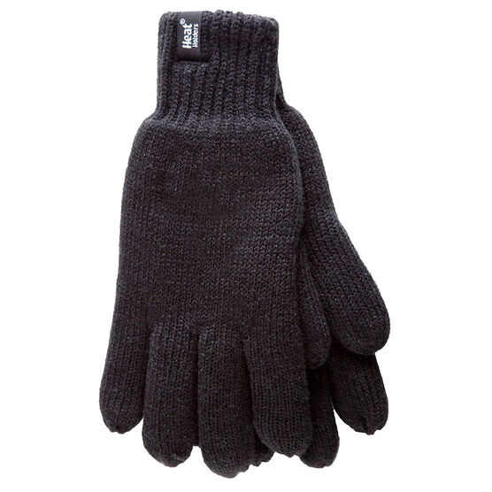 Heat Holders Men's Knit Gloves - Black - Large