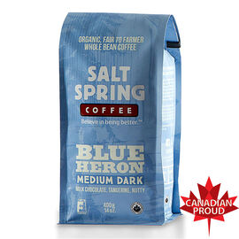 Salt Spring Coffee Blue Heron - Medium Dark Roast - Whole Bean - 400g