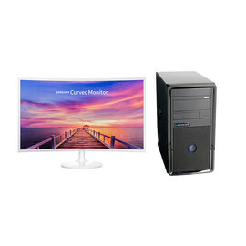 Certified Data AMD A8 9600 with Samsung LC32F391 32inch Curved Monitor - PKG #13826