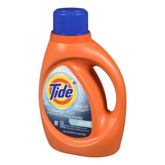 Tide HE Cold Water Liquid Laundry Detergent - Fresh Scent - 1.36L/24 use