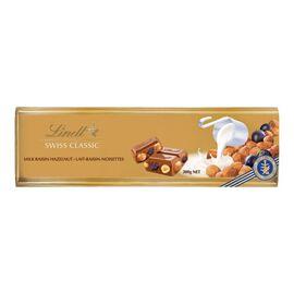 Lindt Swiss Classic Gold Chocolate Bar - Raisin Hazelnut - 300g
