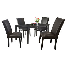 Wood Veneer Dining Set - Espresso - 5 piece