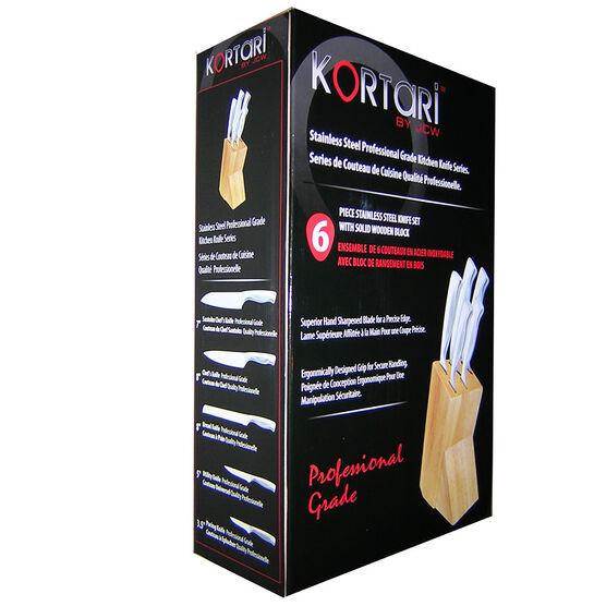 Kortari Knife Block Set - 6 Piece