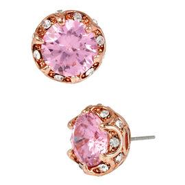 Betsey Johnson Ruffled Halo Stud - Rose Gold/Pink